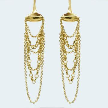 Boucles d'oreilles Gucci Horsebit en or  18 carats