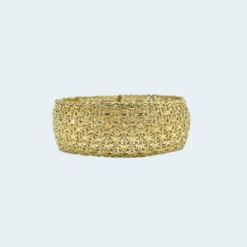 Bracelet ancien en or tressé