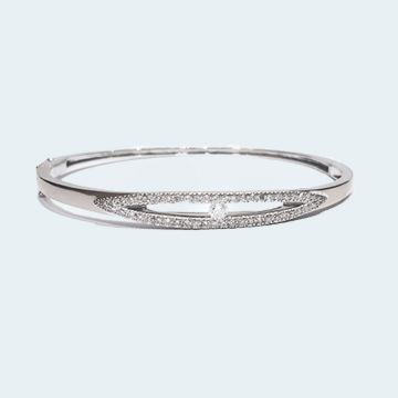 Bracelet en or blanc avec diamants