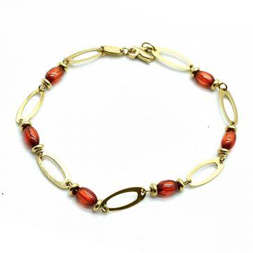 Bracelet moderne en or jaune avec pierres fines