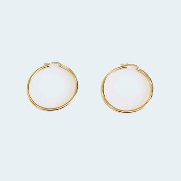 Boucles d'oreilles créoles d'occasion en or 750 / 1000
