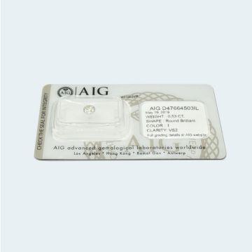 Diamant naturel 0.53 ct certifié