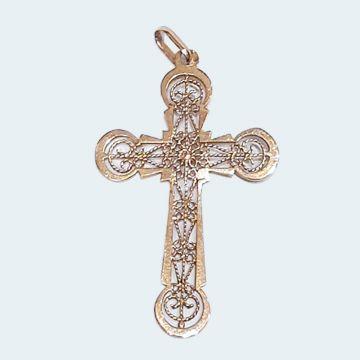 Pendentif croix filigrane