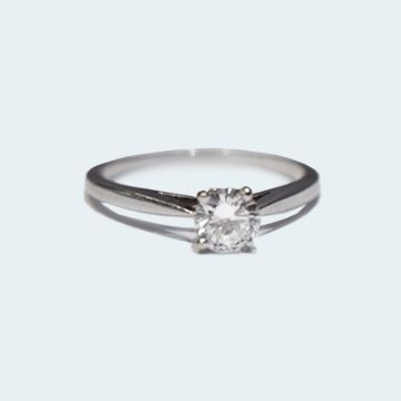 Solitaire d'occasion avec diamant 0.49 c