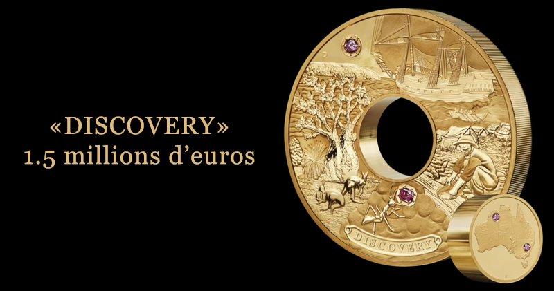 Discovery pièces d'or à 1.5 millions d'euros